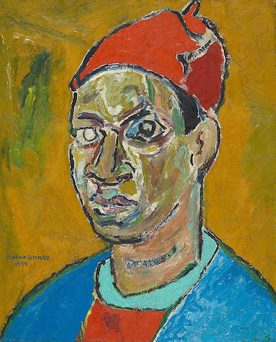 Beauford Delaney, Self-Portrait, 1944. The Art Institute of Chicago, Photo Credit The Art Institute of Chicago / Art Resource, NY