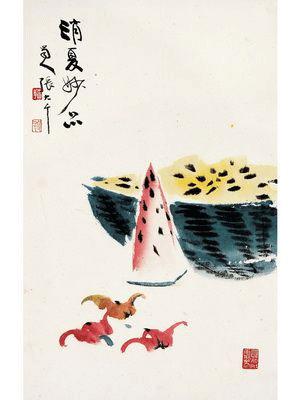 Zhang Daqian, Watermelon. Private Collection