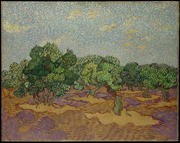 Vincent Van Gogh, Olive Trees, 1889. Collection of The Metropolitan Museum of Art, New York
