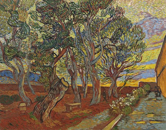 Vincent Van Gogh, Garden of the Asylum, 1889. Collection of the Van Gogh Museum, Amsterdam