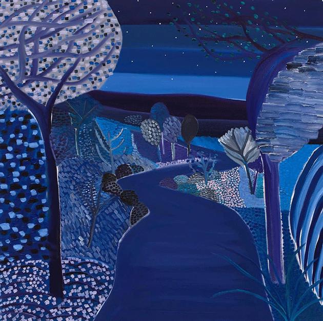 Matthew Wong, River at Night, 2018. Courtesy KARMA, New York