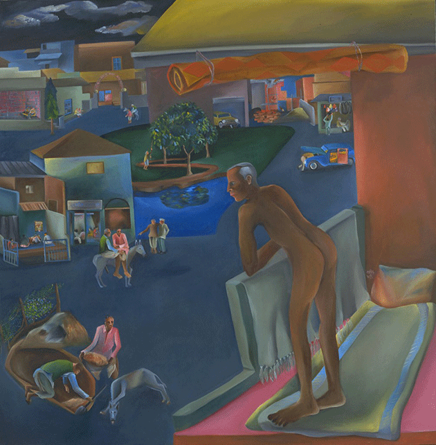 Bhupen Khakhar, You Can't Please All, 1981. Collection of Tate, London.