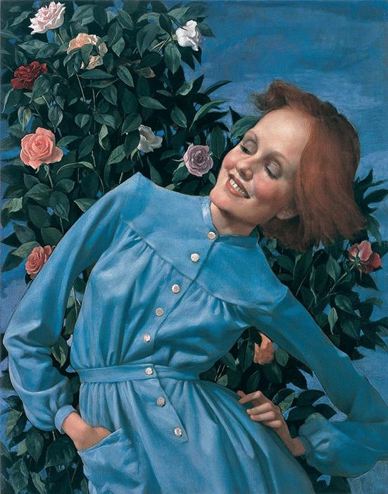 John Currin, Bent Lady, 2003.