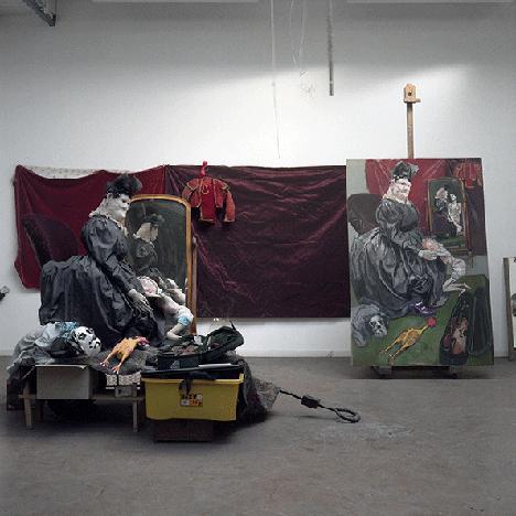 Photograph of Paula Rego in her studio in Camden, London.    Image: © Gautier Deblonde.