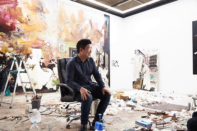 Yukimasa Ida in his studio