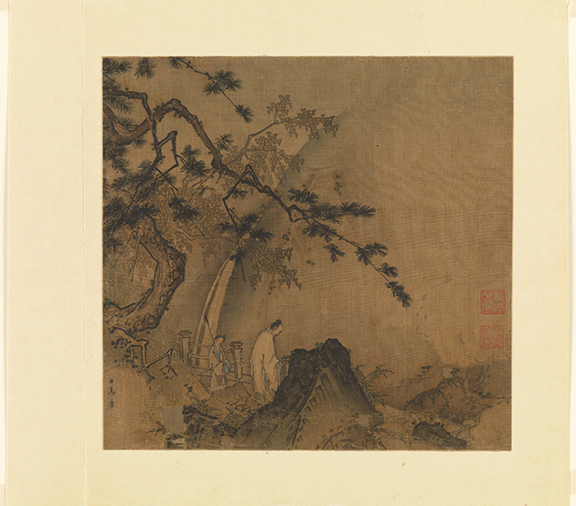 Ma Yuan, Scholar viewing a waterfall, Southern Song, Collection of the Metropolitan Museum, New York