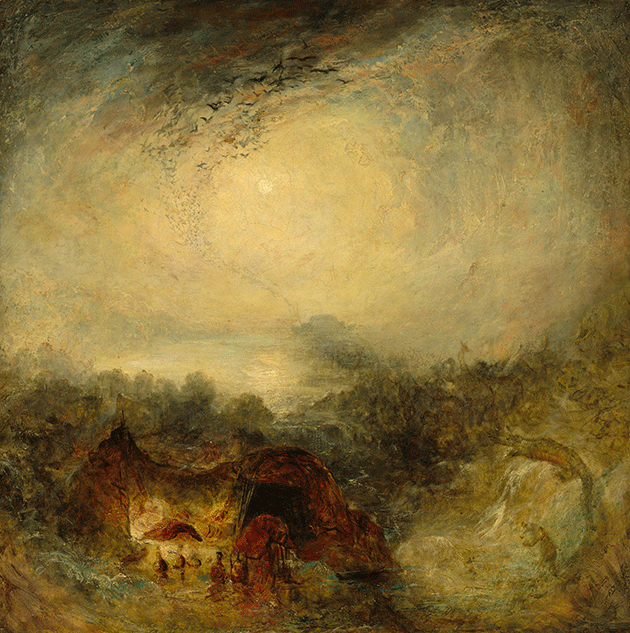 Joseph Mallord William Turner, The Evening of the Deluge, circa 1843, Collection of the National Gallery of Art, Washington DC