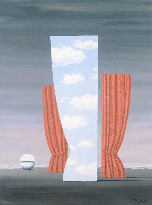 René Magritte, La Joconde, 1962, gouache on paper, Patrimoine Culturel de la Communauté Francaise de Belgique, Brussels © 2021. Photothèque R. Magritte /Adagp Images, Paris, / SCALA, Florence