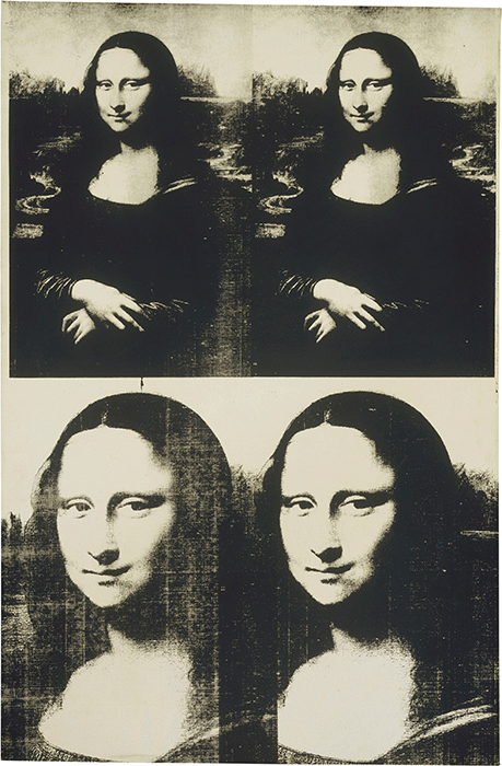 Andy Warhol, Mona Lisa, 1963, acrylic and silkscreen on canvas, Metroplitain Museum of Art, New York.