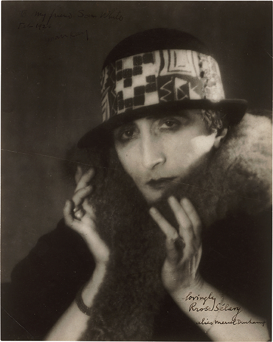 Rrose Selavy (Marcel Duchamp), 1920© Man Ray Trust/ADAGP, Paris and DACS, London 2015.