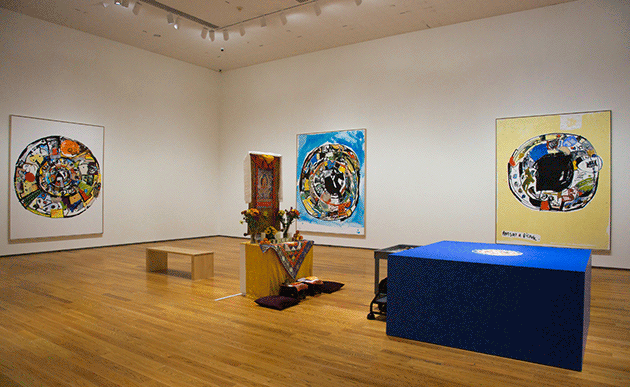 Eddie Martinez, Installation view of Ants at a Picknic at the Davis Museum at Wellesley College, MA, 2017. Image: © Eddie Martinez. Courtesy of the artist and Mitchell-Innes & Nash, New York.