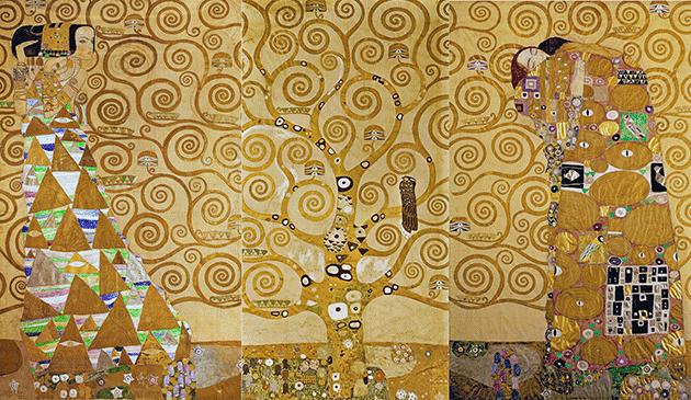 Gustav Klimt, The Stoclet Frieze (detail), 1905-09. Image: Bridgeman Images