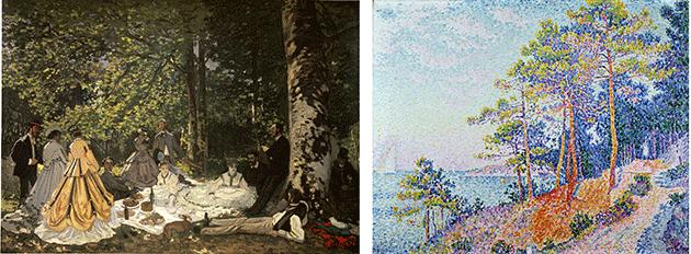 Claude Monet, Le Dejuner sur l'herbe (The Picnic), C.1865-1866, oil on canvas, Pushkin Museum, Moscow. © 2021 Image: Scala, Florence.