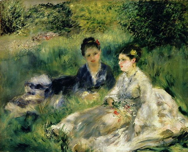 Pierre Renoir, Two Women in the Park, 1875, oil on canvas, The Barnes Foundation, Philadelphia.  Image: Bridgeman Images.