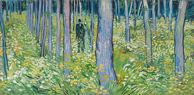 Vincent Van Gogh, Undergrowth with Two Figures, 1890, oil on canvas, Cincinnati Art Museum, Ohio.  Image: Bridgeman Images.