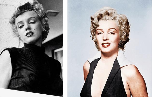 Marilyn Monroe, C.1953, black and white photo. Image: Bridgeman Images