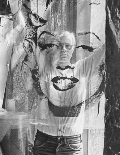 Preparing a transparent Marilyn for an exhibtion, 1967, New York. Photo: William John Kennedy. Image: © 2021 The Andy Warhol Foundation for the Visual Arts, Inc. / Artist Rights Society (ARS), New York and DACS, London.