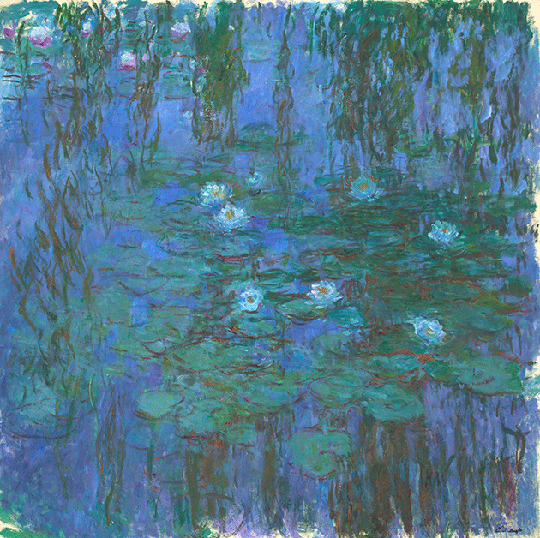 Claude Monet, Blue Waterlilies, circa 1916-1919. Musée d'Orsay, Paris, Photo credit: Hervé Lewandowski © RMN-Grand Palais / Art Resource, NY