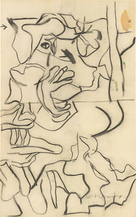 Willem de Kooning, Untitled (Woman), c. 1974. Whitney Museum of American Art, New York, Photo credit SCALA / Art Resoruce, Artwork © Willem de Kooning / Artists Rights Society (ARS), New York