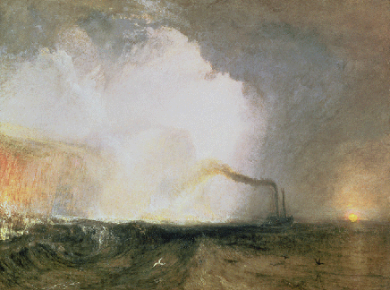 .M.W. Turner, Staffa, Fingal's Cave, 1832, oil on canvas, Yale Center for British Art, Connecticut. Image: Bridgeman Images.