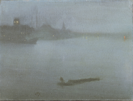 James Abbot McNeill Whistler, Thames - Nocturne in Blue and Silver, c.1872-1888, oil on canvas, Yale Center for British Art, Connecticut. Image: Bridgeman Images.