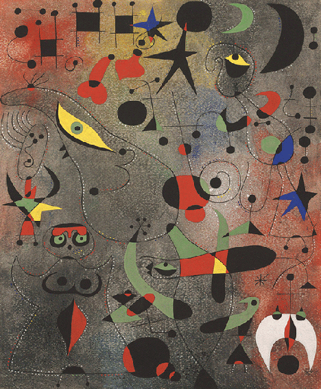 Joan Miró, Constellation: Awakening in the Early Morning, 1941, gouache and oil wash on paper, Kimbell Art Museum, Texas. Image: Bridgeman Images.
