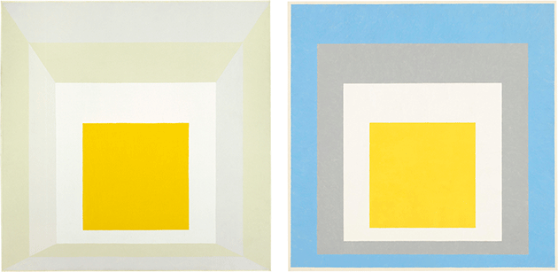 """Josef Albers, Homage to the Square: """"Ascending"""", 1953, oil on composition board, Whitney Museum of American Art, New York.  Image: © 2021. Digital image Whitney Museum of American Art / Licensed by Scala. © The Josef and Anni Albers Foundation / DACS 2021."""