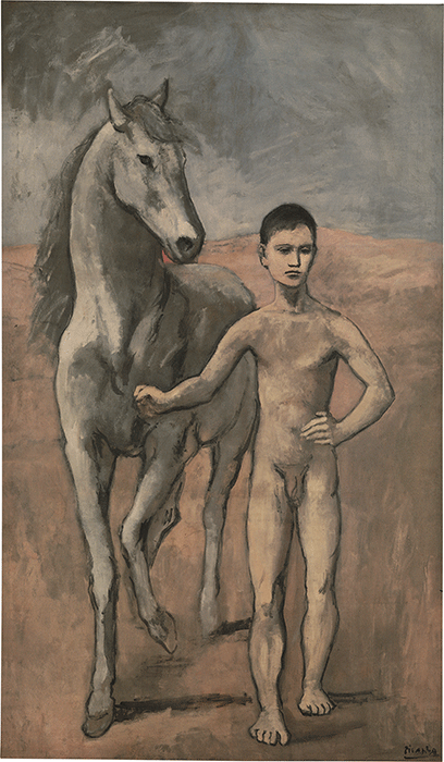 Pablo Picasso, Boy Leading a Horse, 1905-1906, oil on canvas, Museum of Modern Art, New York.  Image: Bridgeman Images. © Succession Picasso/DACS, London 2021.