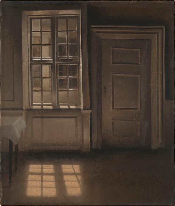 Vilhelm Hammershøi,Interior, Sunlight on the Floor, 1906, oil on canvas, Tate, London. Image:© Tate.