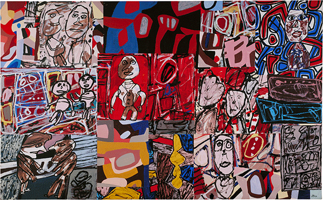 Jean Dubuffet, Vicissitudes, 1977, acrylic on paper and canvas, Tate, London. Image: © Tate. © ADAGP, Paris and DACS, London 2021.