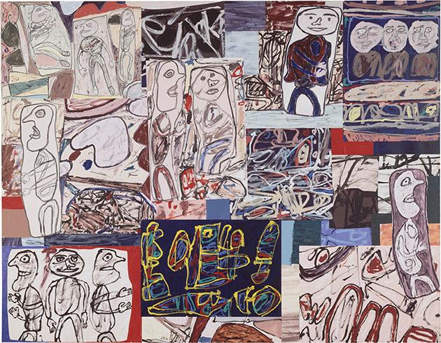 Jean Dubuffet, Tissu d'épisodes, 1976, acrylic on paper layed on canvas, Center Pompidou, Paris.  Image: © ADAGP, Paris and DACS, London 2021.