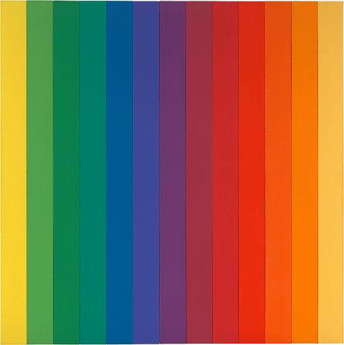 Ellsworth Kelly, Spectrum IV, 1967, oil on canvas, thirteen panels, Museum of Modern Art, New York. Image: The Museum of Modern Art, New York/Scala, Florence.