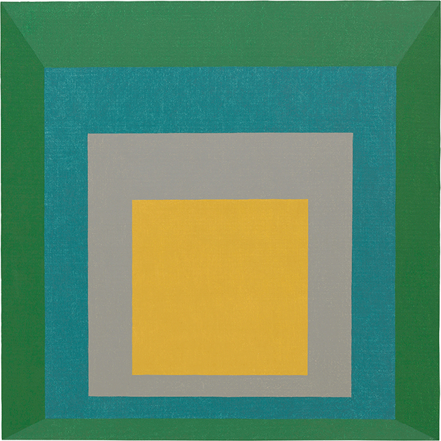 Josef Albers, Homage to the Square: Apparition, 1959, oil on masonite, Solomon R. Guggenheim Museum, New York. Image: The Solomon R. Guggenheim Foundation/Art Resource, NY/ Scala, Florence. © The Josef and Anni Albers Foundation / DACS 2021.