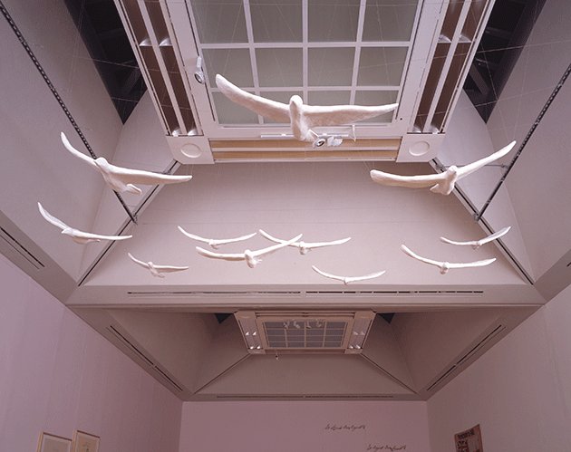 Tracy Emin, In my Family When Someone Dies they are Cremated and their Ashes are Thrown Across the Sea, 1997, plaster, Tate, London. Image: © Tate. © Tracey Emin. All rights reserved, DACS 2021.