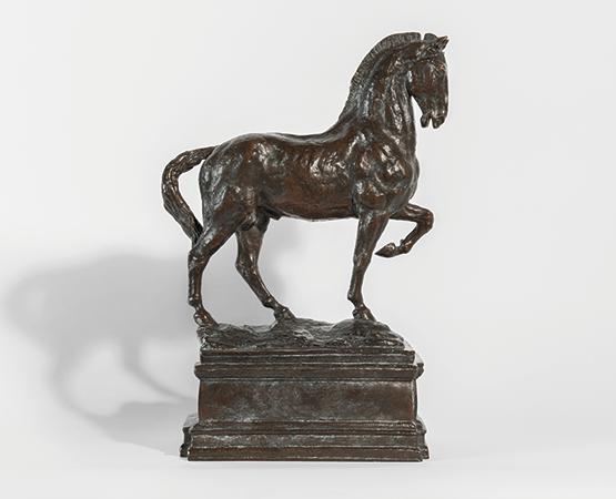 Lot 198, Antoine Bourdelle, Cheval avec grand soubassement, étude pour le Monument au général Alvear, 1913–1980