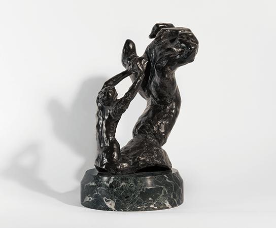 Lot 193, August Rodin, Main crispée gauche avec figure implorante, 1906–1907/1975