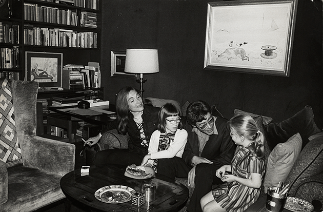 Peter O'Toole with his family seated in front ofGulls in Fog, being offered concurrently in Philips 20thCentury and Contemporary Day Sale. Peter O'Toole Papers, Harry Ransom Centre, The University of Texas at Austin.