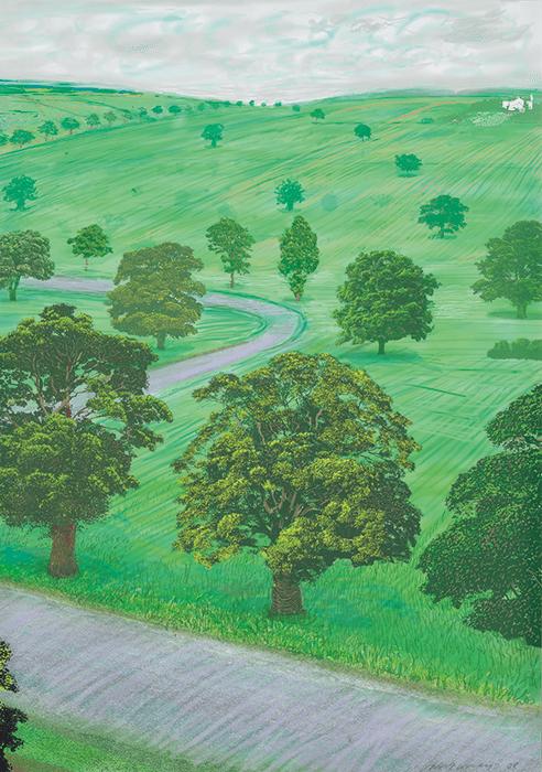 David Hockney, A Bigger Green Valley, 2008 (detail)