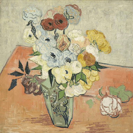 Vincent van Gogh, Roses and Anemones, June 1890, Musee d'Orsay, Paris © RMN-Grand Palais / Art Resource, NY. Photo: Adrien Didierjean.