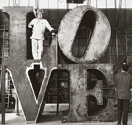 Robert Indiana in North Haven, Connecticut, 1970. Photographed by Tom Rummler, Artwork © 2021 Morgan Art Foundation Ltd./Artists Rights Society (ARS), New York