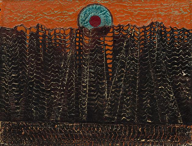 Max Ernst, le fôret (The Forest) 1927, Sprengel Museum, Hannover © 2021. Photo Scala, Florence/bpk, Bildagentur fuer Kunst, Kultur und Geschichte, Berlin © ADAGP, Paris and DACS, London 2021