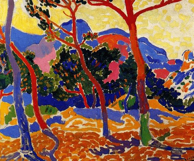 Andre Derain, The Trees, c. 1906, Albright-Knox Art Gallery, Buffalo, New York© ADAGP, Paris and DACS, London 2021