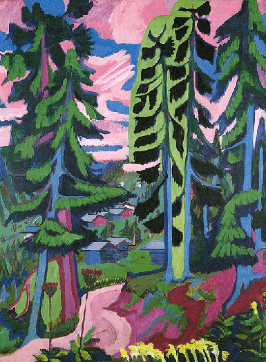 Ernst Ludwig-Kirchner, Wildboden, Bergwald (Mountain Forest)  Raoul Dufy, Trees, 1913, Private Collection