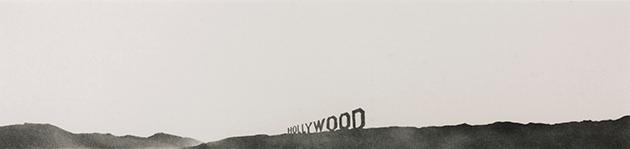 Ed Ruscha, Hollywood, Tate, London Photo: Tate © Edward Ruscha