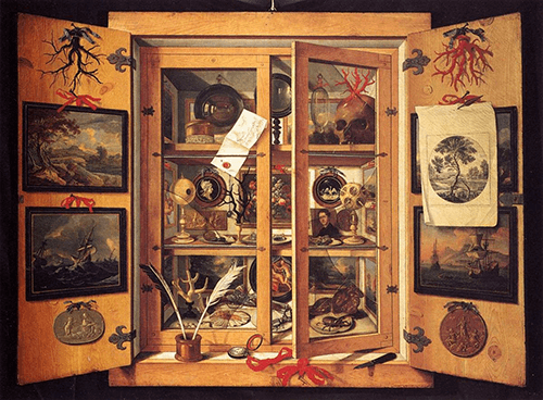 Domenico Remps, Cabinet of Curiosities, 1690s, Opificio delle pietre dure, Florence