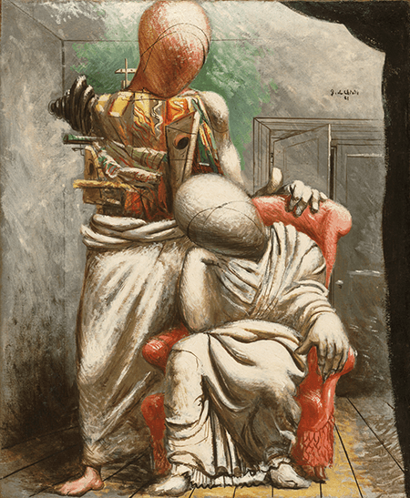 Giorgio de Chirico, The Poet and His Muse, 1921. Philadelphia Museum of Art, Image: The Philadelphia Museum of Art / Art Resource, NY, Artwork: © Artists Rights Society (ARS), New York / SIAE, Rome 2)