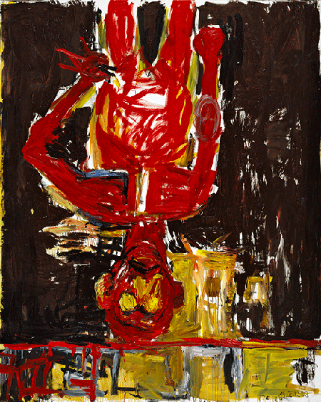 Georg Baselitz, Edvard vorm Spiegel, 1982, oil on canvas, Private Collection. © Baselitz 2020. Image: Courtesy of Skarstedt Gallery, New York.