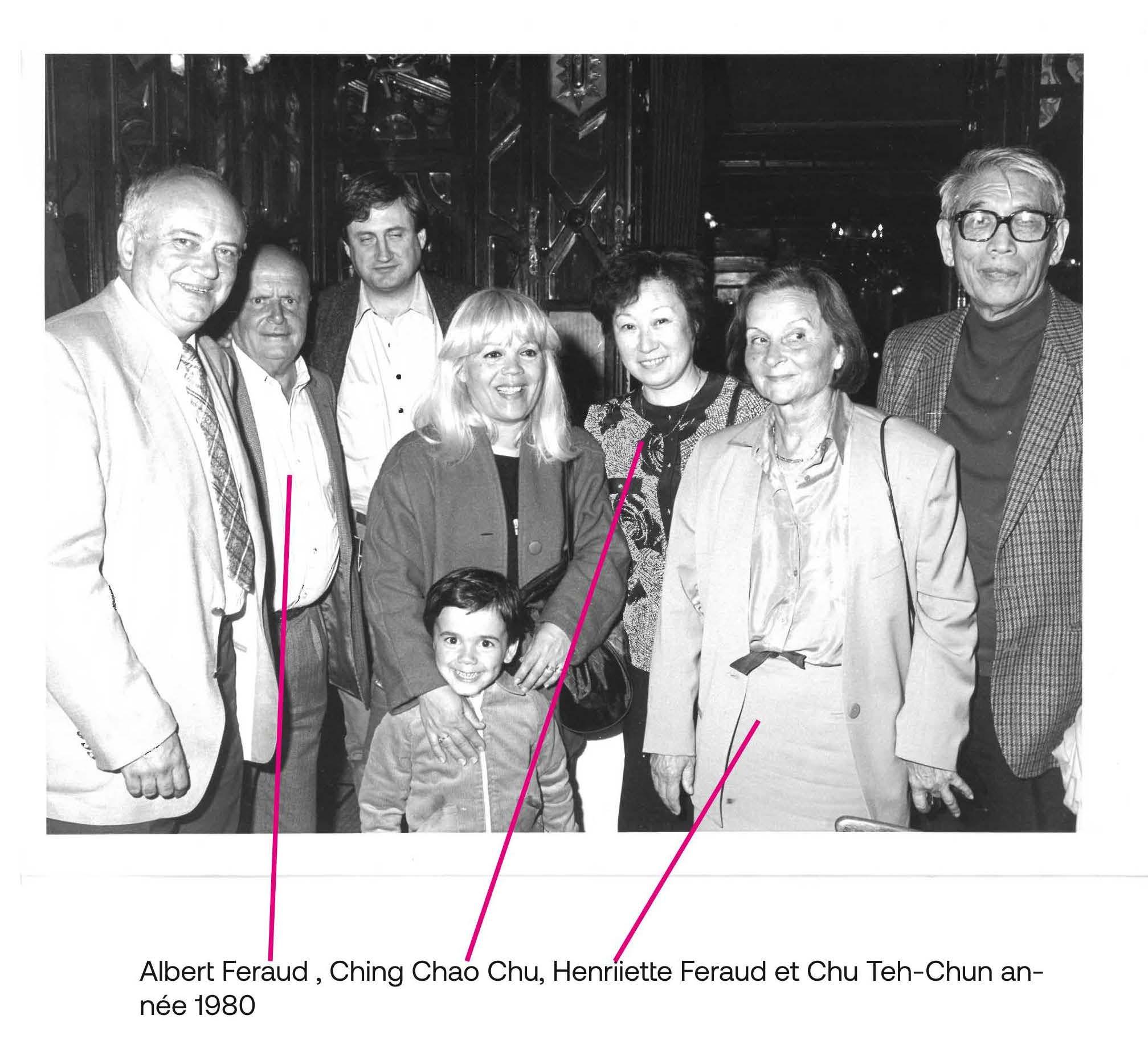 The families of Albert Féraud and Chu Teh-Chun in Paris in 1980