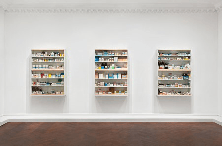 Installation view: 'Medicine Cabinets', L & M Arts, New York, 2010. Photographed by Tom Powel Imaging Inc., courtesy of L & M Arts © Damien Hirst and Science Ltd. All rights reserved, DACS 2012