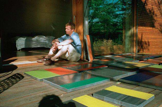 Günther Förg in Mikael Andersen's Studio House, Vejby Strand. Courtesy Mikael Andersen Gallery.